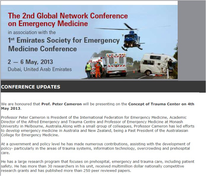 Faculty of Medicine - The 2ed Global Network Conference on Emergency